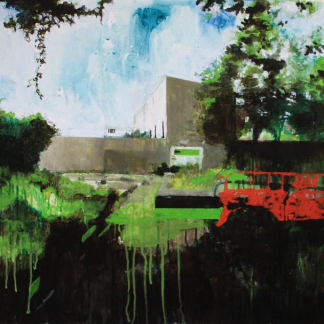 El Huerto del Rey Moro II 1090mm x 690mm acryllic on canvas. Emma Louise Pratt 2012.