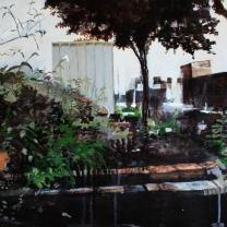 El Patio I 900mm x 550mm acryllic on canvas. Emma Louise Pratt 2012.