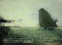 The SS Kinugara Maru. Oil on board by Emma Louise Pratt.