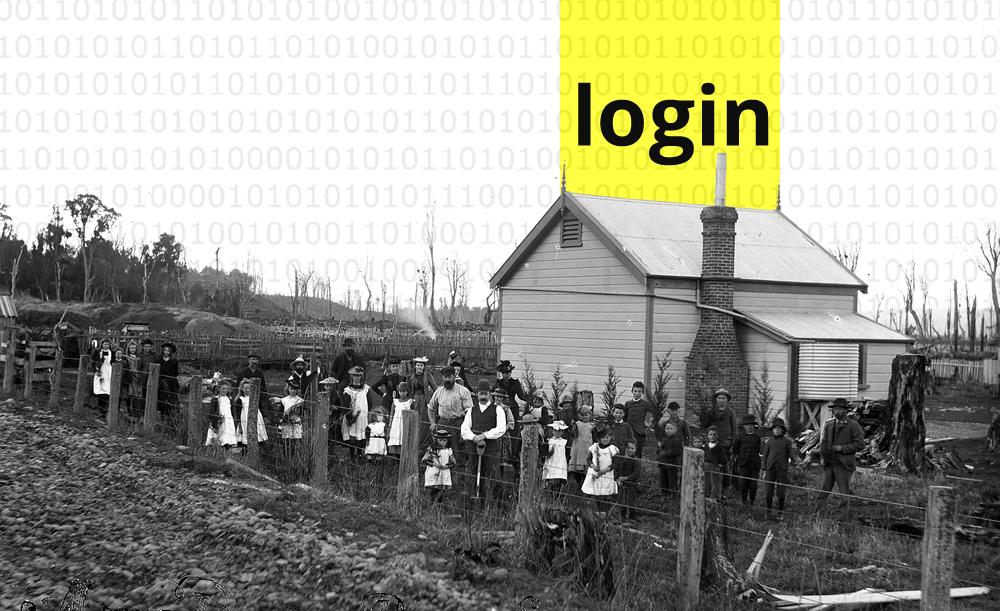 Arbor Day at Rata School New Zealand 1894