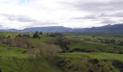 Looking towards Apiti, Central North Island New Zealand
